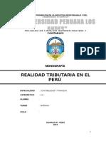 Monografia Realidad Tributaria en El Perú Desde 1900 Hasta El 2014