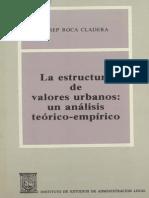 La Estructura de Valores Urbanos Un Análisis Teórico