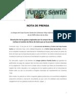 Nota de Prensa AMPA FUENTE SANTA Devolución Gastos Libros de Texto