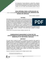 Acción Gerencial Integral Aplicadas Por Los Directivos Para El Mejoramiento de La Eficacia