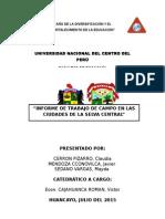 Informe-trabajo de Campo Selva Central