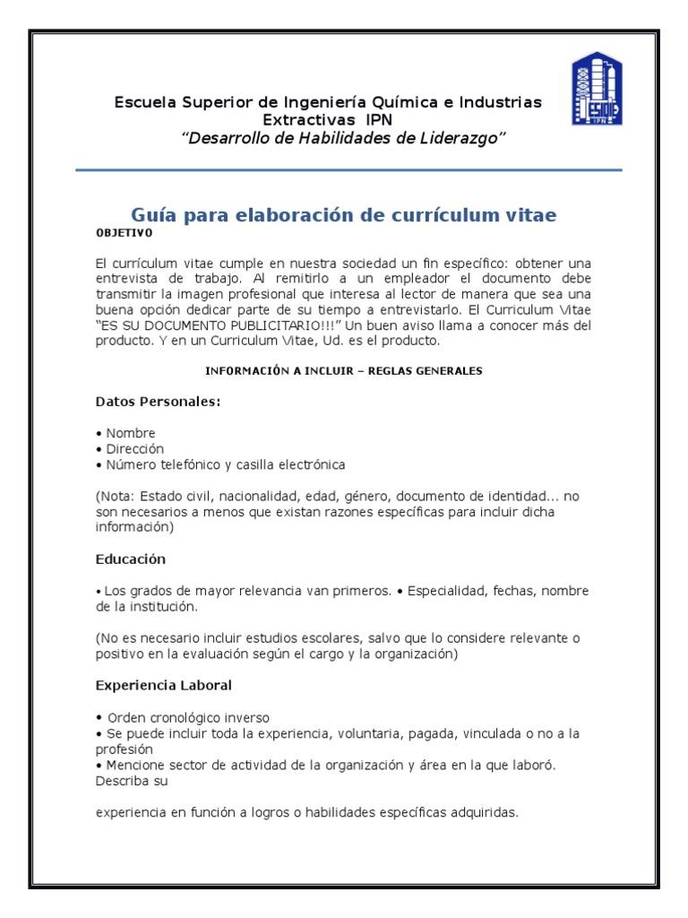 Perfecto Ejemplos De Curriculum Vitae De Ingeniería Civil Viñeta ...