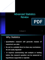 Advanced Statistics Review