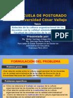 Diapositiva de Sustentación de Tesis Doctoral Ucv DIC 2014