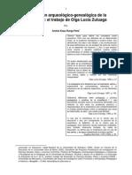 Pedagogía de Orientación Arqueológico Genealógica ZULUAGA