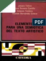 Talens, Jenaro Et Al - Elementos Para Una Semiotica Del Texto Artistico
