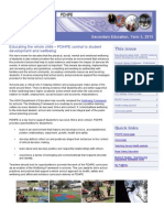 Term 3 PDHPE Newsletter 2015