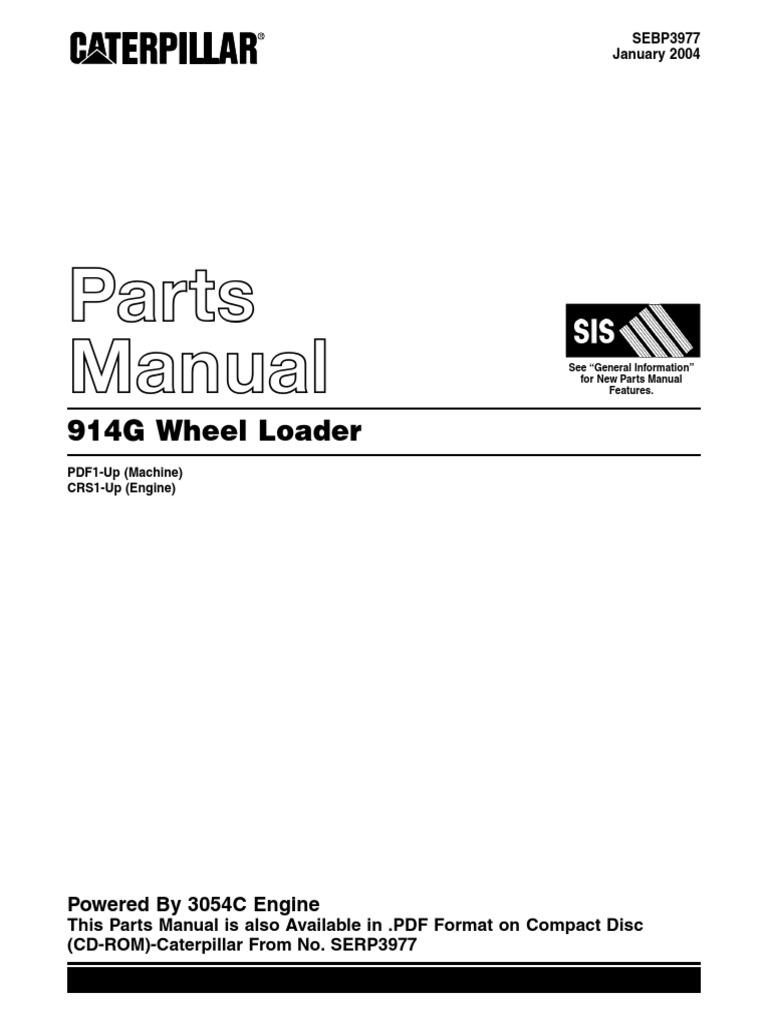 caterpillar 914g parts manual rh es scribd com caterpillar parts manual download caterpillar parts manual gc40k