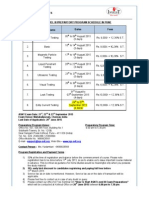 Level III Preparatory Schedule for September 2015