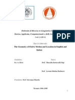 The Geometry of Fictive Motion and Location in English and Italian