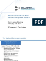 FCC National Broadband Plan, National Purposes Update DOC-296353A1 of 02-18-2010