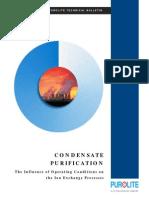 Condensate Purification Purolite Technology