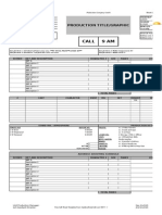 Cast and Crew Call - Call Sheet Template PC