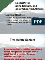 Marine Sextant