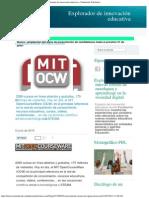 MIT OpenCourseWare. Conocimiento abierto  (5 junio 2015)
