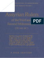 Assyrian Rulers of the Third and Second Millennia BC (to 1115 BC) - A Kirk Grayson