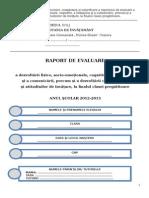 0 Raport de Evaluare Clasa Pregatitoare