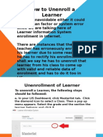 Tutorial on How to Unenroll a Learner