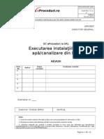 PO-7.5.1-2 Executarea Instalaţiilor de Apă-canalizare Din PP