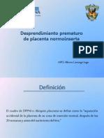 desprendimiento prematuro de placenta normoincierta