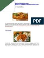 7 Makanan Popular Tradisi India