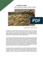 LA MURALLA CHIMÚ - Patrimonio arqueológico amenazado por muladares, invasiones y canteras
