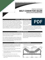 OM 002 Belt Conveyor Idler Instruct 6E74091AB9993