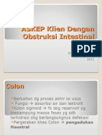 ASKEP Obstruksi Intestinal