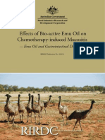 Effects of Bio-active Emu Oil on Chemotherapy-induced Mucositis