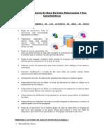 Caracteristicas Comunes de Los Gestores de Base de Datos Relacionales