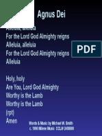 Agnus Dei (1)