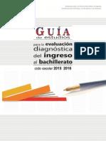 Guía de Evaluación Diagnóstica 2015-2016