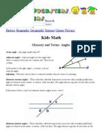 13. Kids Math_ Angles Glossary and Terms