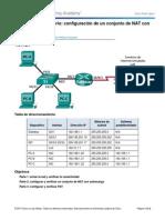 11.2.3.7 Lab - Configuracion de NATcon Sobrecarga y