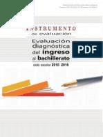 Instrumento Evaluación Diagnóstica 2015-2016