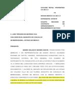 Modelo Contestacion de Demanda en Materia Mercantil