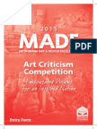 2015 Art Criticism Entry Form