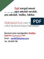 Font Budak Sekolah, Bahan Bantu Kelas Pemulihan Khas Pra Sekolah, Sekolah Rendah, Tadika, Tabika