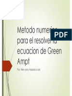 Ecuacion de Greenampt