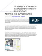 Adapting and Supplementing
