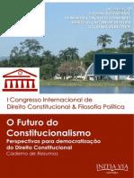 O Fututo Do Constitucionalismo - Caderno de Resumos [2014]
