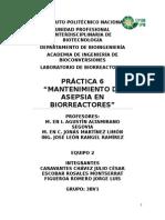 Práctica 6. Mantenimiento de Asepsia en Biorreactores.