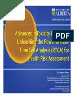 University Alberta_Toxicity Bioassay Health Risk Assessment_xCELLigence_Webinar2014.pdf