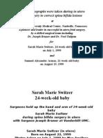 Samuel Armas, Sarah Switzer, in utero fetal surgery for spina bifida, Dr. Joseph Bruner, Dr. Noel Tulipan, Vanderbilt UMC, Born Twice, The Miracle of Life