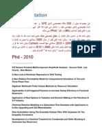 Petroman 2012 - Dissertation