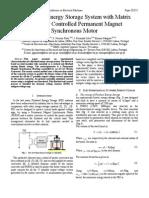 A Flywheel Energy Storage System With Matrix Converter