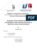 Trade-off between security level and compression in voice communications