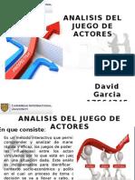 Prospectiva Análisis Del Juego de Actores David Garcia
