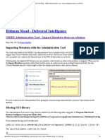 Rittman Mead Consulting » OBIEE Administration Tool – Import Metadata Shows No Schemas