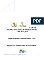 Ecosysmangrove-nepad Climate Fund (Ncf)- Grant Application Form (French)